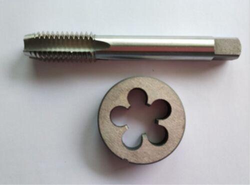 1pc HSS Machine 9//16-36 UNS Plug Tap and 1pc 9//16-36 UNS Die Threading Tool