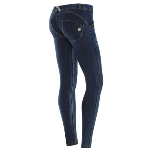 Wr Wrup1lj05e Floreali Jeans up Scuro Strass Con J0 Skinny Freddy y Col BwaHqcdH6