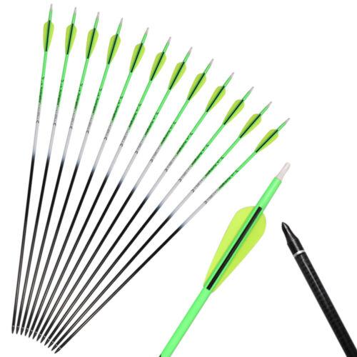 "6//12X 31/"" Huntingdoor Archery Carbon Arrows SP350 Target Arrows Hunting Bow"