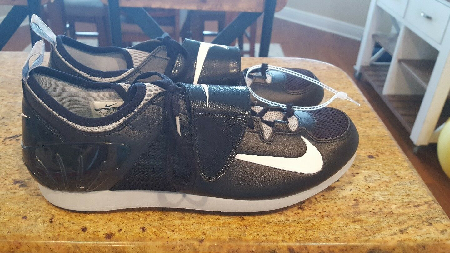 The latest discount shoes for men and women NEW Nike Zoom PV II Men's Pole Vault Spikes Black Grey White Comfortable