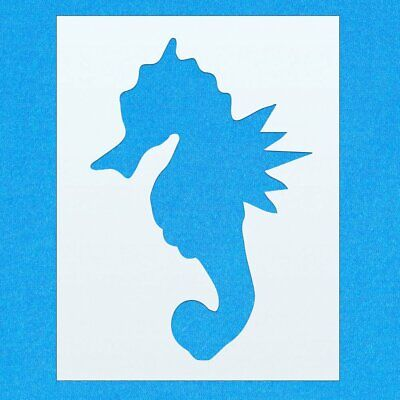Sea Horse Pretty Sea Animal Mylar Airbrush Painting Wall Art Crafts Stencil 3