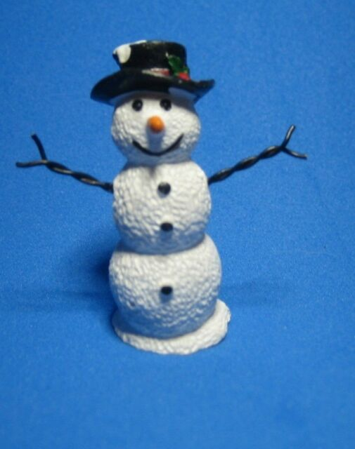 Dollhouse Miniature Small Snowman Figurine
