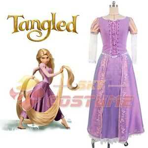 Disney-Film-Tangled-Rapunzel-Adult-Cosplay-Party-Fancy-Dress-Costume-Prom-Gown