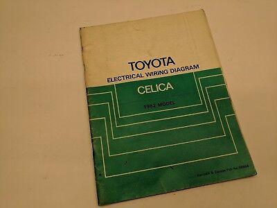 1982 Toyota Celica Wiring Diagram OEM Factory Manual   eBay