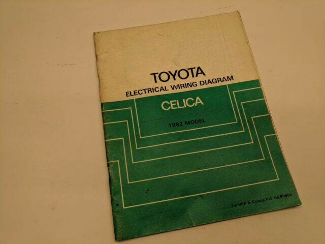 1982 Toyota Celica Wiring Diagram Oem Factory Manual