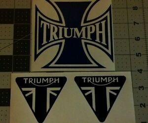 Triumph Motorcycle Retro Tank Decal Vinyl Sticker Window EBay - Triumph motorcycle custom stickers decals
