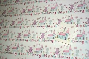 Girls Womens Birthday Gift Wrap 2 Sheets of Wrap 1 Matching tag Present