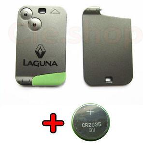 coque carte cle plip t l commande renault laguna ii 2 boutons pile offert ebay. Black Bedroom Furniture Sets. Home Design Ideas