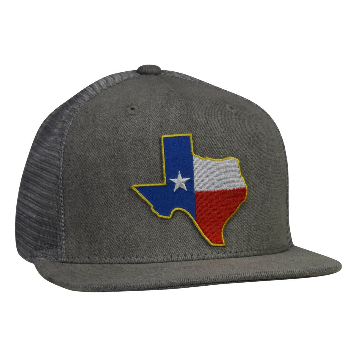 Texas Trucker Snapback Hat -  Gray Denim Snapback Trucker Lone Star State dd7054