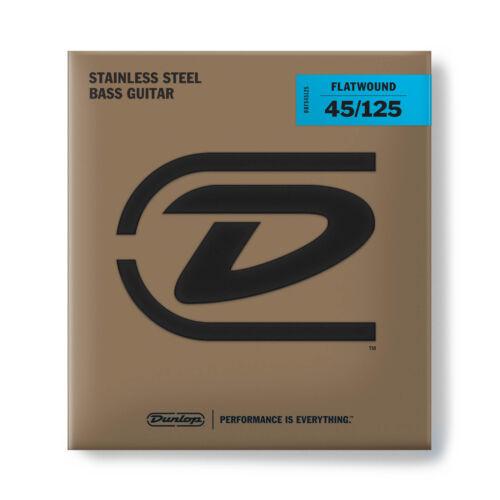 Dunlop DBFS45125 Flatwound Bass Guitar Strings 5-String Set