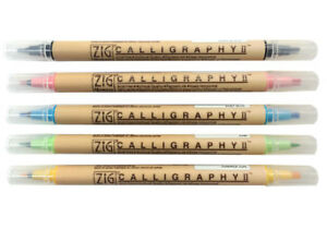 ZIG-Kuretake-Memory-System-Double-Ended-Calligraphy-Markers-in-48-Colors