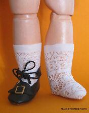 Chaussettes fines Jumeau®poupée ancienne pied 3à4cmJ45-Doll socks FRANCE POUPEES