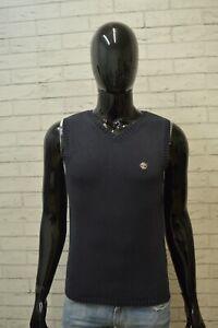 Maglione-Blu-Uomo-TIMBERLAND-Pullover-Taglia-M-Sweater-Cardigan-Felpa-Cotone
