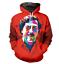 Men Women 3D print red people Hip Hop Casual Hoodie Sweatshirt Zipper Jacket