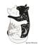 miniature 9 - Cat Pin Badge Brooch Enamel Gift Jewellery Cat Lover Black White Ladies Yin Yang
