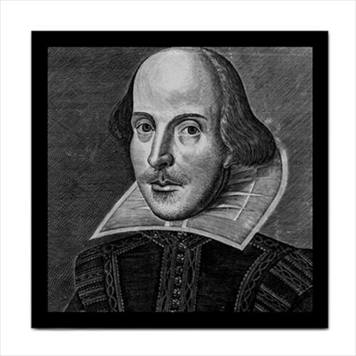 William Shakespeare Art Decorative Ceramic Tile