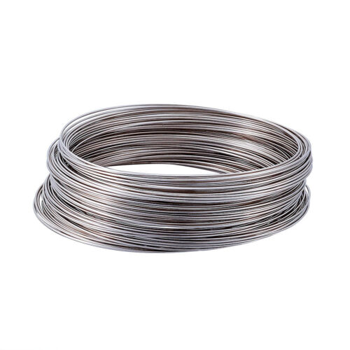 100 Loop//Unit Steel Memory Wire Wrapped Bracelet Making 24 AWG Platinum 65mm DIA
