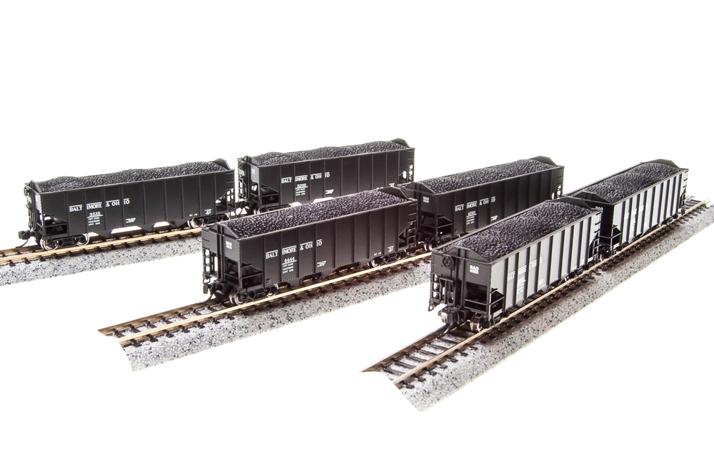 BLI  3650/N-Scale  BALTIMORE & OHIO 3-Bay Hopper Cars  6 Car Set /6 Car  's  NIB