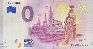 BILLET-0-EURO-LOURDES-FRANCE-2018-NUMERO-3300