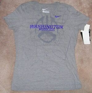 d6eb87048aa5 NEW NIKE NCAA Washington Huskies Football T Shirt Women Ladies Women ...