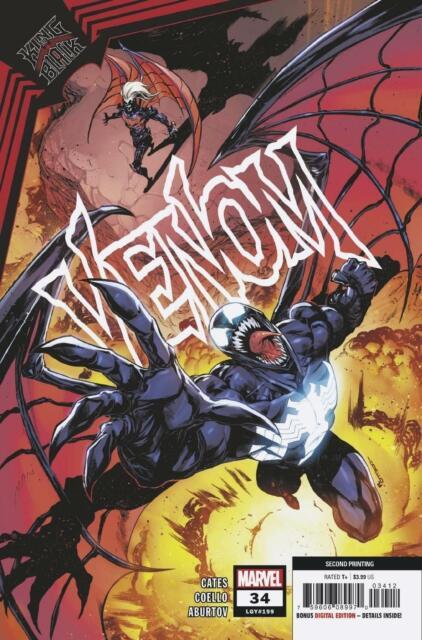 Venom #34 2nd Ptg Coello Var Kib Marvel Comics Comic Book