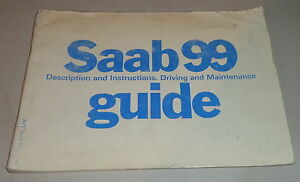 Betriebsanleitung-Owner-039-s-Manual-Saab-99-Stand-3-1977