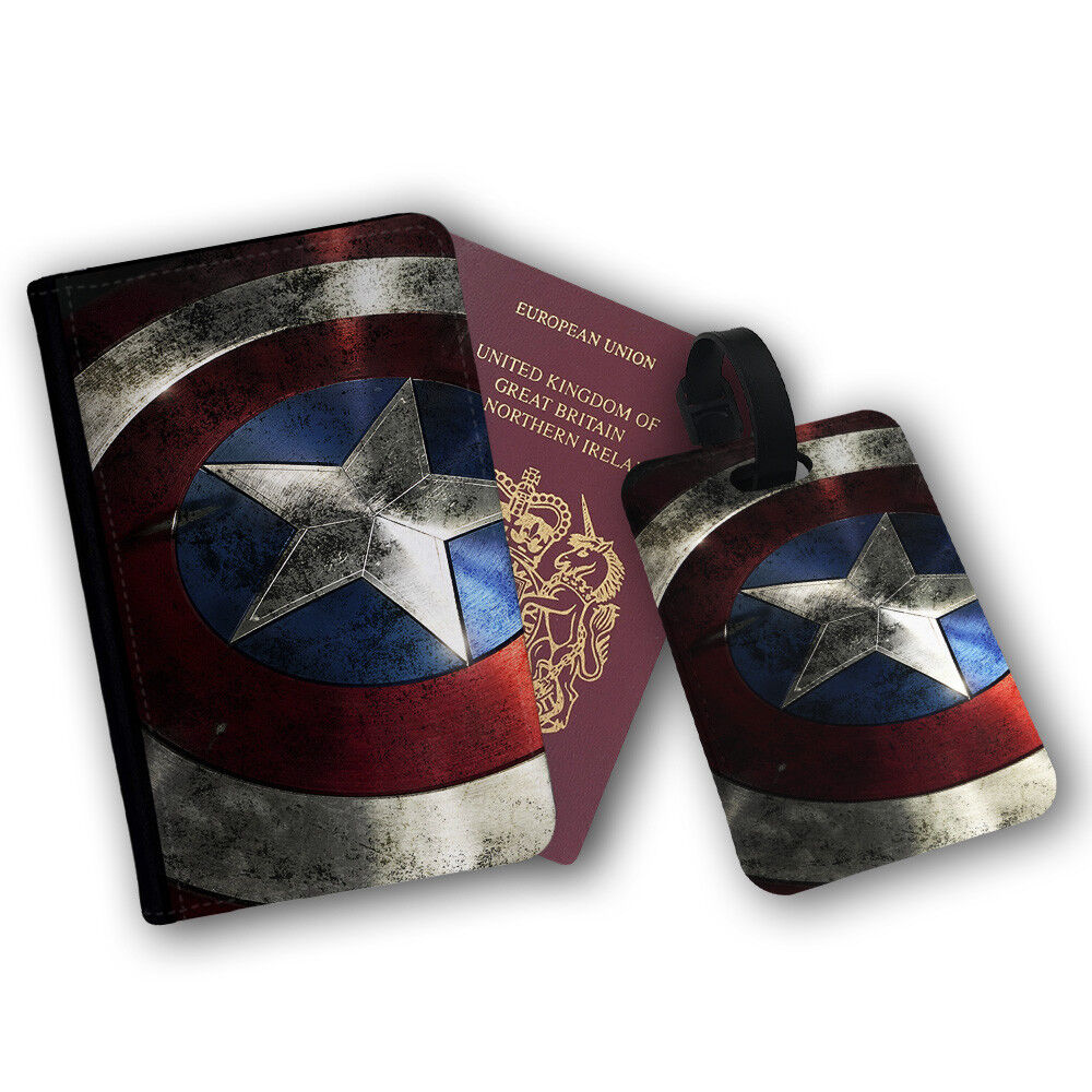 Captain America Luggage Tag 1
