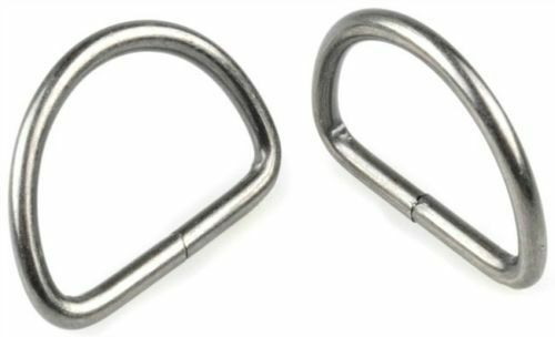 FREE P/&P TOP QUALITY 28MM UNWELDED SILVER D RING BUCKLES FOR WEBBING ETC