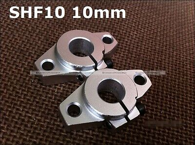 4Pcs SHF10 10mm LINEAR BEARING REAR FLANGE MOUNT SHAFT SUPPORT CNC 90014051