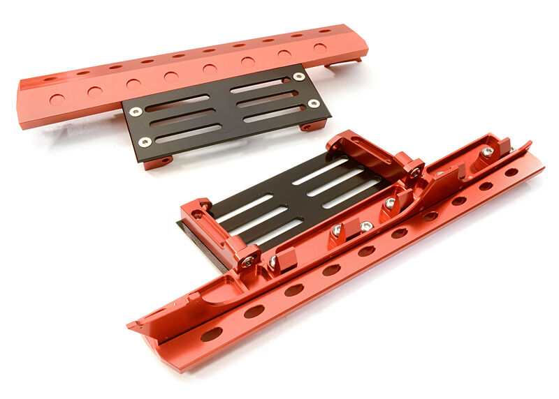 C26892RED Integy Billet Model Deluxe Side Step for SCX-10, Dingo, Honcho & Jeep