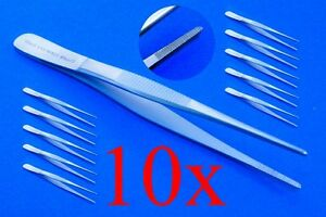 Anatomical-Tweezers-Ca-4-1-2in-10x-Top-Quality-Stainless-Steel
