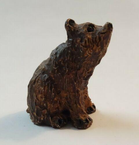 PETER FAGAN Vintage BROWN BEAR Miniature Animal Figurine Handmade Scotland