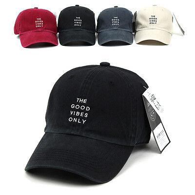 Unisex Mens The Good Vibes Only Vintage Flipper Faded Baseball Cap Trucker Hats