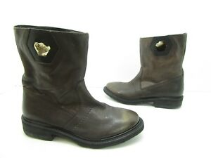 Details about Women's Bikkembergs BKE106329 Pull on Boots Brown Size 36 (US 5.5)