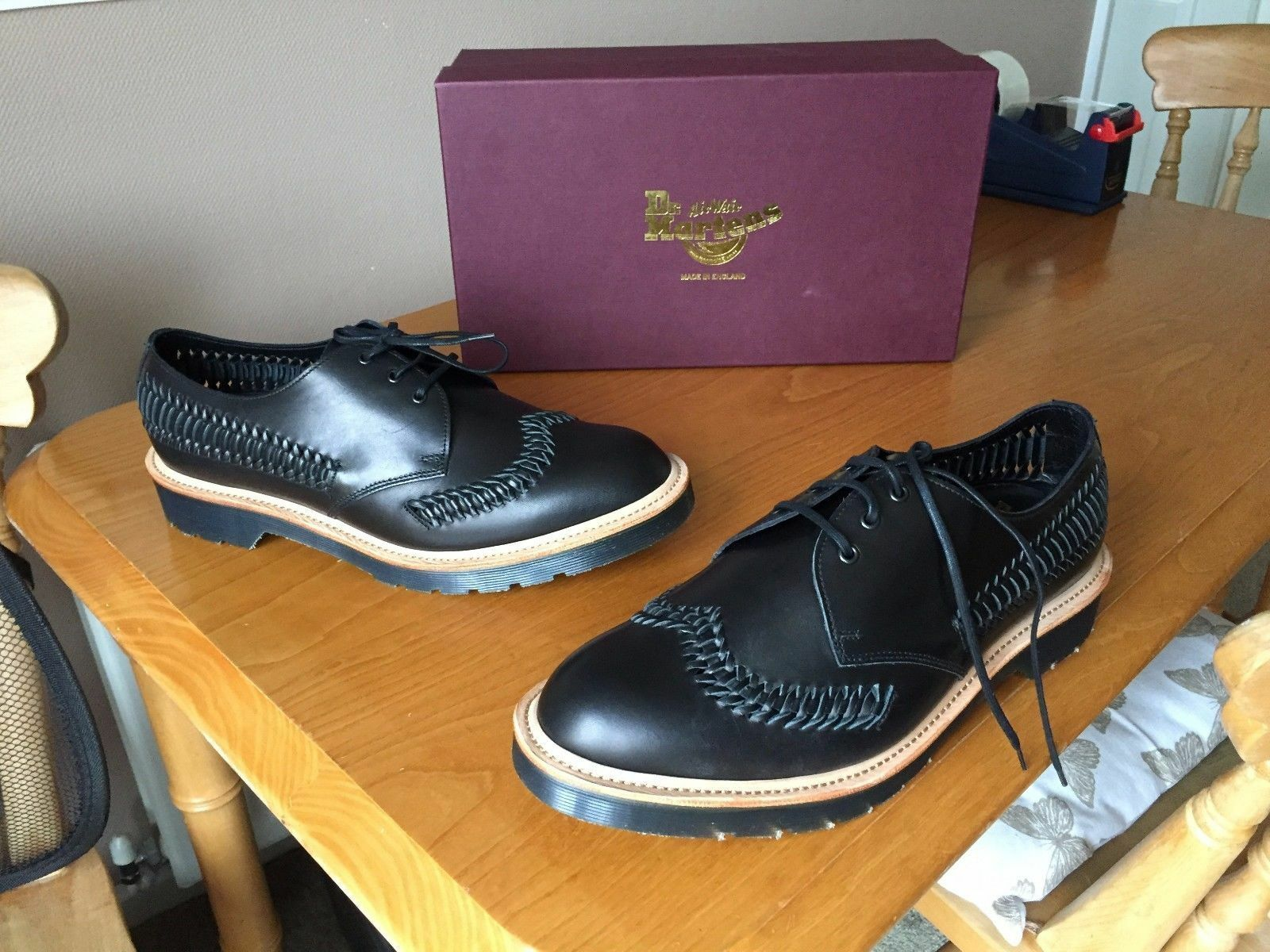 DR in Martens WEAVER Beaumont Nero in DR Pelle Tg EU 42 Made in England f4542f