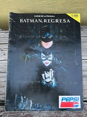 Collectibles 2019 New Style 1992 Batman Returns Mexico Pepsi Movie Promo Stickers Album Complete