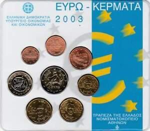 Griekenland-BU-set-2003-1-cent-2-euro-KMS