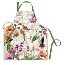 Michel Design Works Cotton Apron Orchids in Bloom Birds - NEW