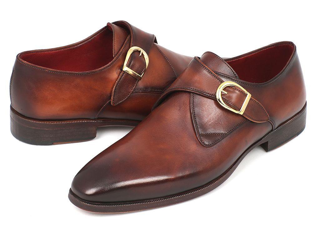 Paul Parkman Monkstrap Scarpe Eleganti Brown & Cammello (ID#011B44)