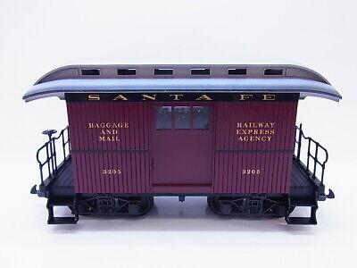 58215 Lgb Traccia G Ferrovia Giardino Pack Us Auto Auto Postale 3205 Railway Express Santa Fe-mostra Il Titolo Originale Processi Di Tintura Meticolosi