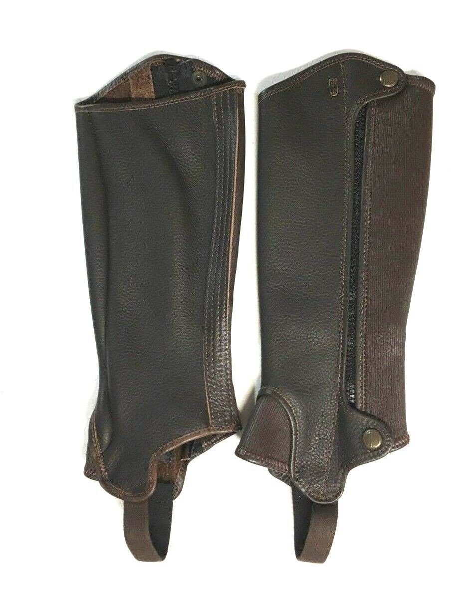 cheap for discount 88086 5fef9 NEW Tredstep Deluxe Leather Half Chaps Height 13 Calf - Mocha 14 Chap  oqzmkf2307-Western Chaps Full Chaps