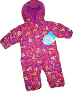 69077ec29 COLUMBIA girl's Frosty Freeze one piece Snowsuit bunting Jacket 3 ...