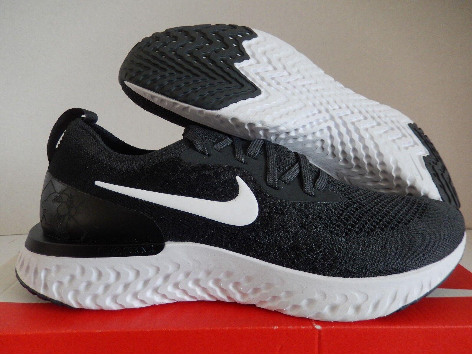 Nike Nike Nike epischen reagieren flyknit dunkle Grau-schwarz-Weiß sz - 9,5 (bv5968-994] 1a9c71