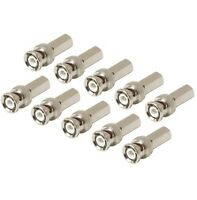 10-pack Bnc Male Twist On Connectors For Rg6 Rg-6 Coax Cable