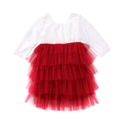 Toddler Kid Baby Girl Lace Dress Party Prom Bridesmaid Party Pageant Dresses USA