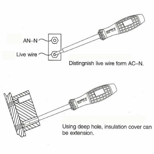 200V Screwdriver Electrical Tester Pen With Power Voltage Test Detector Probe