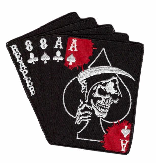 2AFTER1 Multicam Ace of Spades Grim Reaper Death Card Morale Tactical Skull Skeleton Hook/&Loop Patch