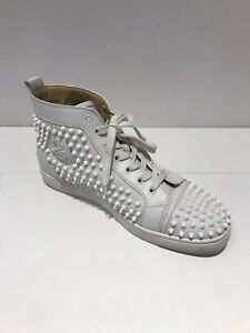 Details About Christian Louboutin Mens White Studded Trainers Size 9 5 1 613 A