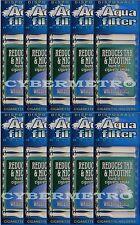 10 Packs Aquafilter Cigarette Filters (Total 100 Filters), Aqua Filter Holder