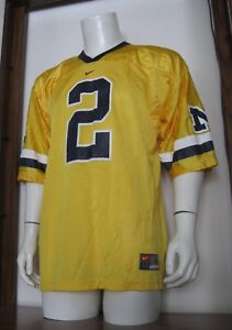 san francisco 4de87 55f1c Details about L Men NIKE #2 Charles Woodson Michigan Wolverines NCAA  Football Jersey Yellow